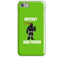 mutant and proud (white font) iPhone Case/Skin