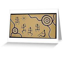 Corroboree bu Australian Aboriginal Artist David Williams Greeting Card