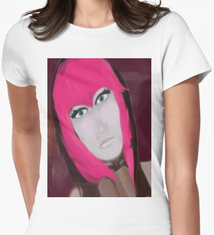 Pink Womens Fitted T-Shirt