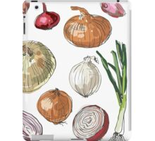 illustration of retro organic Onions set iPad Case/Skin
