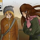 At The Busstop by Amarylus