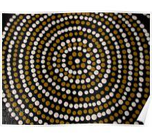bugaran (a dry well) bu Australian Aboriginal artist David Williams Poster