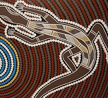 Goanna by Australian Aboriginal artist David Williams by aboriginalart