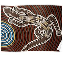 Goanna by Australian Aboriginal artist David Williams Poster