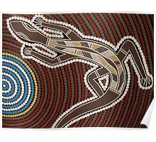 Goanna by Australian Aboriginal artist David Williams Poster