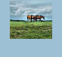 Three Horses Facing The Storm Unisex T-Shirt