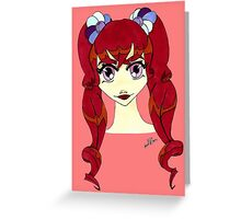 red hair  Greeting Card