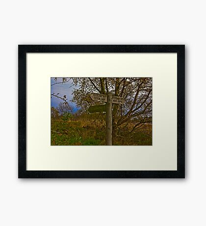 On The Cleveland Way Walk. Framed Print