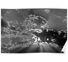 Dramatic cloud cover over Tunisia, North Africa Poster