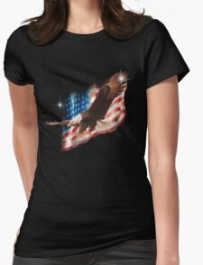 Bald Eagle Womens Fitted T-Shirt