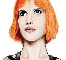 Hayley Williams Portrait  by oddlyart