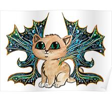Feline Pixie, Frixie, Darkwing kitty cat Poster