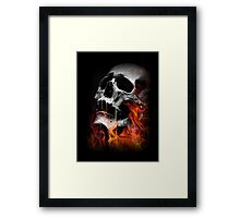 Flaming Skull Framed Print