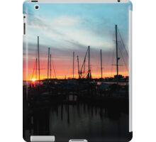 sunrise at the habor iPad Case/Skin