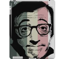 Wody Allen in stripy background! iPad Case/Skin