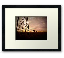 The Tired Well Has No Fans Framed Print