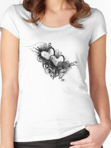 Two hearts Women's Fitted Scoop T-Shirt