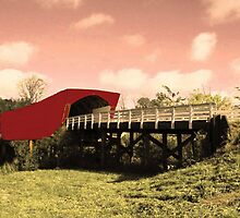 Roseman Covered Bridge by Linda Miller Gesualdo