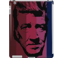 David Lynch in stripy background! iPad Case/Skin