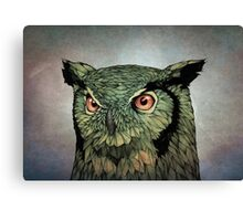 Owl - Red Eyes Canvas Print