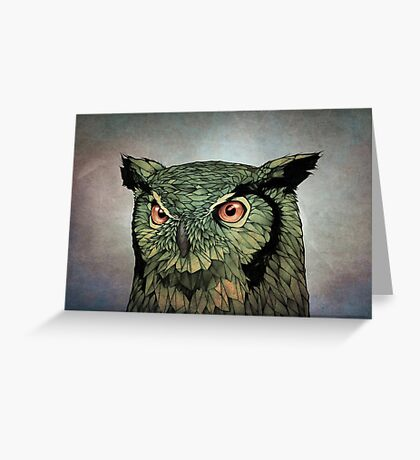 Owl - Red Eyes Greeting Card