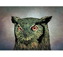 Owl - Red Eyes Photographic Print