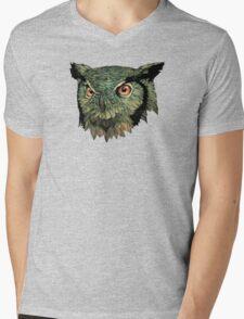 Owl - Red Eyes Mens V-Neck T-Shirt