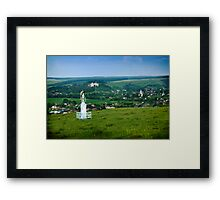 Approach to the Village of Budaniv, Ukraine Framed Print