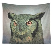 Owl - Red Eyes Wall Tapestry