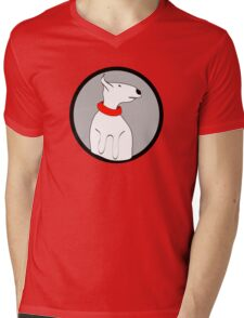 ENGLISH BULL TERRIER CUTE PORTRAIT Mens V-Neck T-Shirt