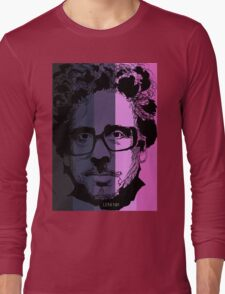 Tim Burton in stripy background! Long Sleeve T-Shirt