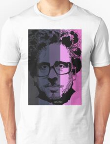 Tim Burton in stripy background! Unisex T-Shirt