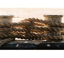 nautical ropes Photographic Print