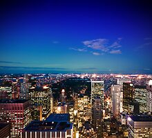 Lower Manhatten from Rockefeller Center by Dominic Kamp