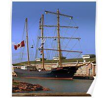 Tall Ship Waiting Poster