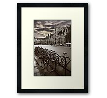 Oxford-Bikes Framed Print