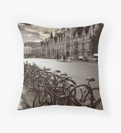 Oxford-Bikes Throw Pillow