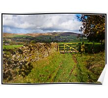 Pendle Hill views Poster