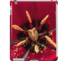 Macro Red Tulip Flower iPad Case/Skin