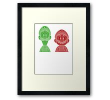 Mario and Luigi Framed Print