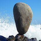 Big Stone & Wave Crashing by tom j deters