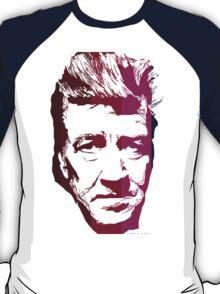 David Lynch in stripes T-Shirt