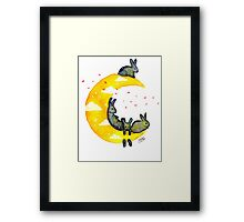 Hanging on the Moon Framed Print