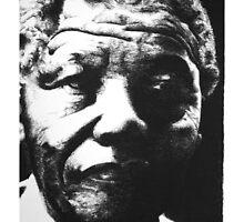 Nelson Mandela Portrait by Adrian Wells