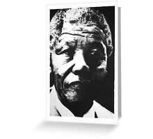 Nelson Mandela Portrait Greeting Card