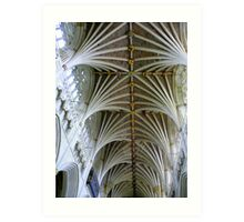 Exeter Cathedral Ceiling Art Print