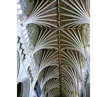 Exeter Cathedral Ceiling Photographic Print