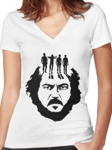 Stanley Kubrick and his droogs! Women's Fitted V-Neck T-Shirt