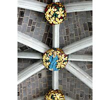 Detail of the ceiling (Exeter cathedral) Photographic Print