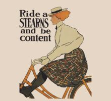 Ride A Stearns Bicycle and Be Content T-Shirt